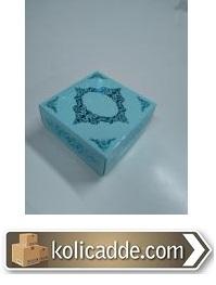 Yaldızlı Karton Kutu Kapaklı 8x8x3,5