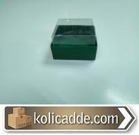Asetat Kapaklı Yeşil Kutu 5x5x3 cm.-KoliCadde
