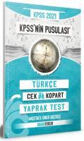KPSS'nin Pusulası Türkçe Yaprak Test  Çek Kopart
