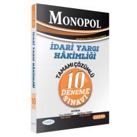 Monopol İdari Yargı Hakimliği 10 Deneme Çözümlü