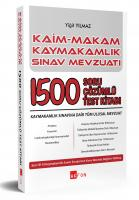 Kaim Makam Sınav Mevzuatı 1500 Çözümlü Soru Bankası