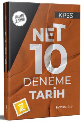 KPSS Tarih Net 10 Deneme Çözümlü Komisyon
