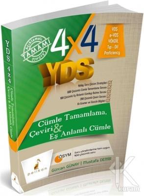 4x4 YDS Cümle Tamamlama, Çeviri ve Eş Anlamlı Cümle