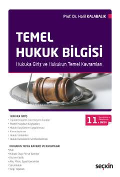 Temel Hukuk Bilgisi Prof. Dr. Halil Kalabalık