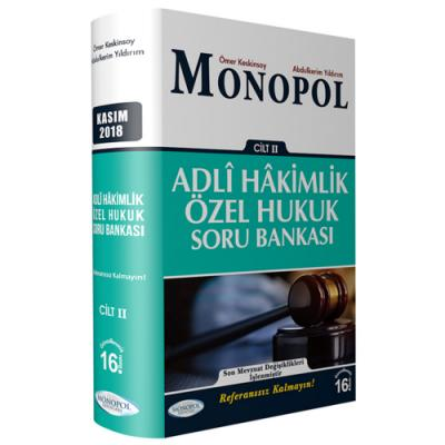Monopol Adli Hakimlik Referans Özel Hukuk Soru Bankası Cilt 2 %10 indi