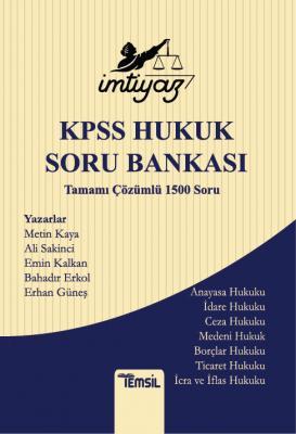 İmtiyaz Kpss Hukuk Soru Bankası Metin Kaya