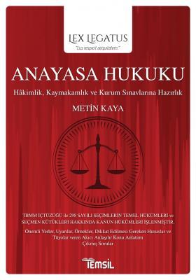 Lex Legatus Anayasa Hukuku %25 indirimli Metin Kaya