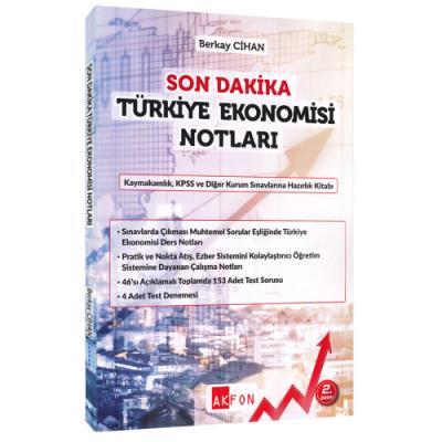 Son Dakika Türkiye Ekonomisi Notları %25 indirimli Berkay Cihan