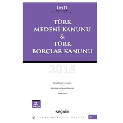 Türk Medeni Kanunu ve Türk Borçlar Kanunu %8 indirimli Mutlu Dinç
