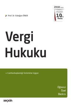 Vergi Hukuku %8 indirimli Prof. Dr. Erdoğan Öner