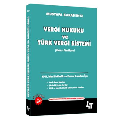 Vergi Hukuku ve Türk Vergi Sistemi Ders Notları