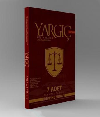 Yargıç Adli Hakimlik 7 Adet Tamamı Çözümlü Deneme Sınavı
