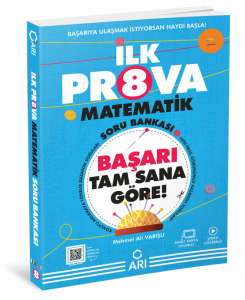 Arı Yayınları  8. Sınıf İlk Prova Matematik Soru Bankası