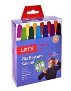 Lets 12 Renk Çevirmeli Yüz Boyama Kalemi L 6812