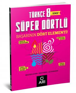 Arı Yayınları 8.Sınıf Türkçe Süper Dörtlü
