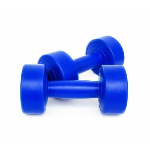 Dambıl 2 Kg x 2 Adet Plastik Dambıl, Dumbell Ağırlık Mavi