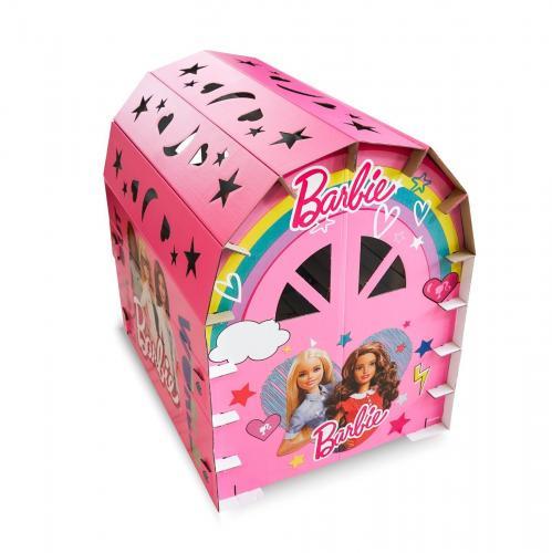Barbie 16 Parça Karton Oyun Evi