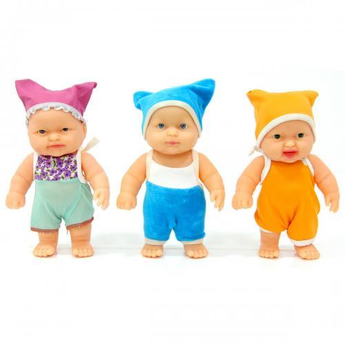Bebiş Et Bebek Elbiseli 19 cm