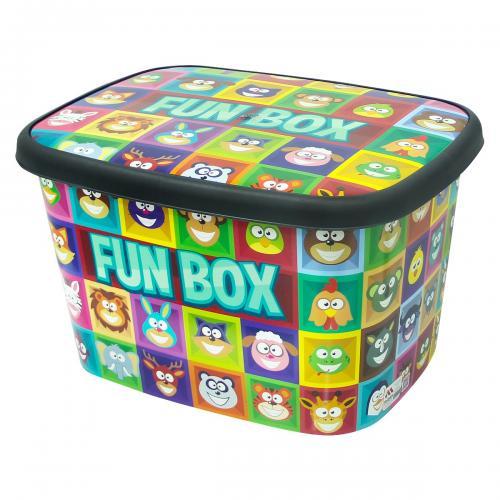 Eğlenceli Desenli Oyuncak Kutusu
