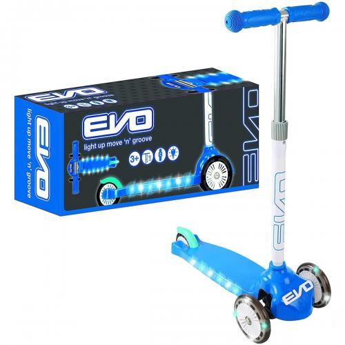 Evo Işıklı Move N Groove Mavi Üç Tekerlekli Scooter