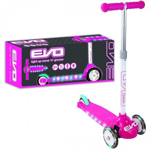 Evo Işıklı Move N Groove Pembe Üç Tekerlekli Scooter