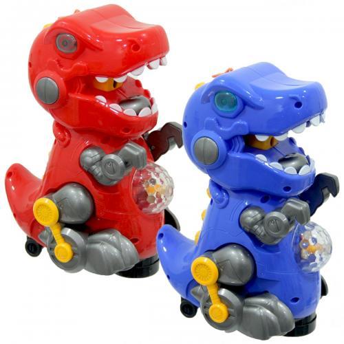 Pilli Işıklı Duman Püskürten Robot Trex