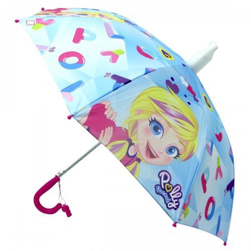Poly Pocket Lisanslı Çocuk Şemsiyesi Mavi