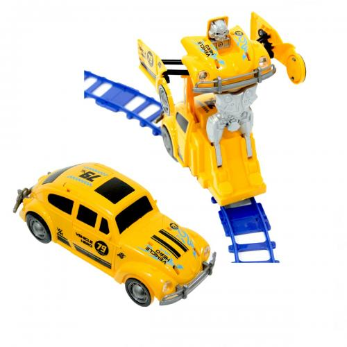 Robot Track Raylı Pilli Robota Dönüşen Araba