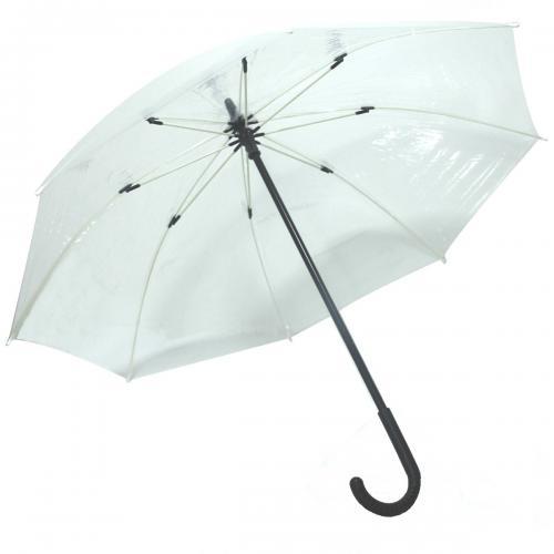 Şeffaf Baston Yağmur Şemsiyesi