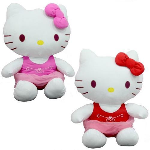 Sunman Peluş Hello Kitty Elbiseli Kurdeleli 70Cm