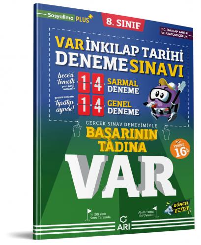 Arı Yayınları 8.Sınıf Var T.C. İnkılap Tarihi Ve Atatürkçülük Deneme Sınavı