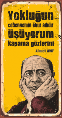 Ahmed Arif Ahşap Poster