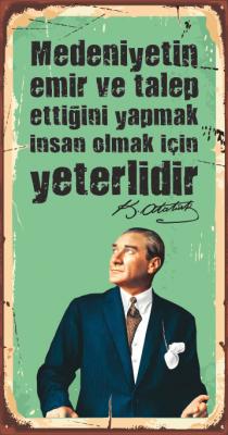 Mustafa Kemal Atatürk Ahşap Poster
