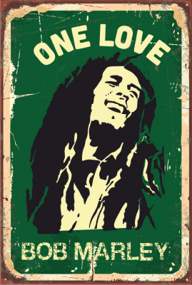 Bob Marley Ahşap Poster