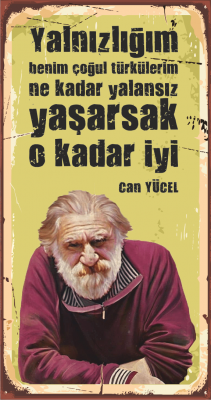 Can Yücel Ahşap Poster