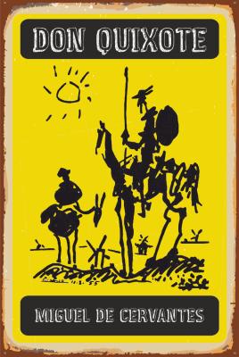 Don Kişot Ahşap Poster
