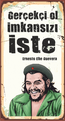 Che Guevara Ahşap Poster