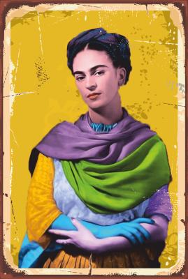 Frida Kahlo Ahşap Poster