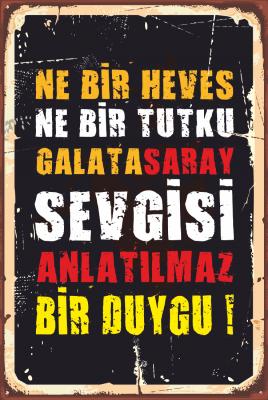 Galatasaray Ahşap Poster