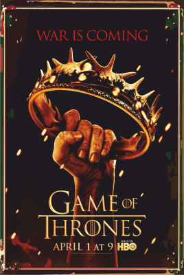 Game of Thrones Ahşap Poster
