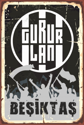 Beşiktaş Ahşap Poster