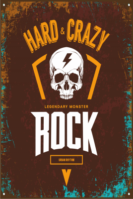 Hard Rock Ahşap Poster