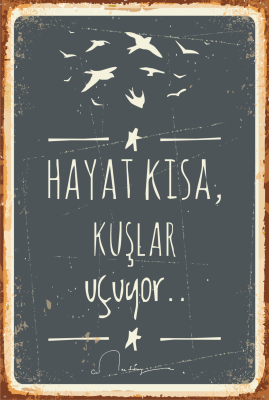 Cemal Süreya Ahşap Poster
