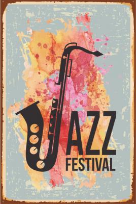 Jazz Festival Ahşap Poster