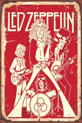 Led Zeppelin Ahşap Poster