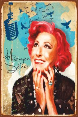 Müzeyyen Senar Ahşap Poster
