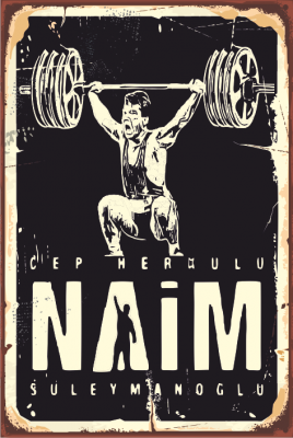Naim Süleymanoğlu Ahşap Poster