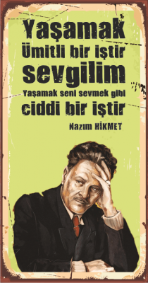 Nâzım Hikmet Ahşap Poster