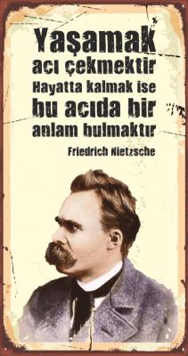 Nietzsche Ahşap Poster
