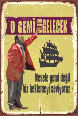Leyla ile Mecnun Ahşap Poster